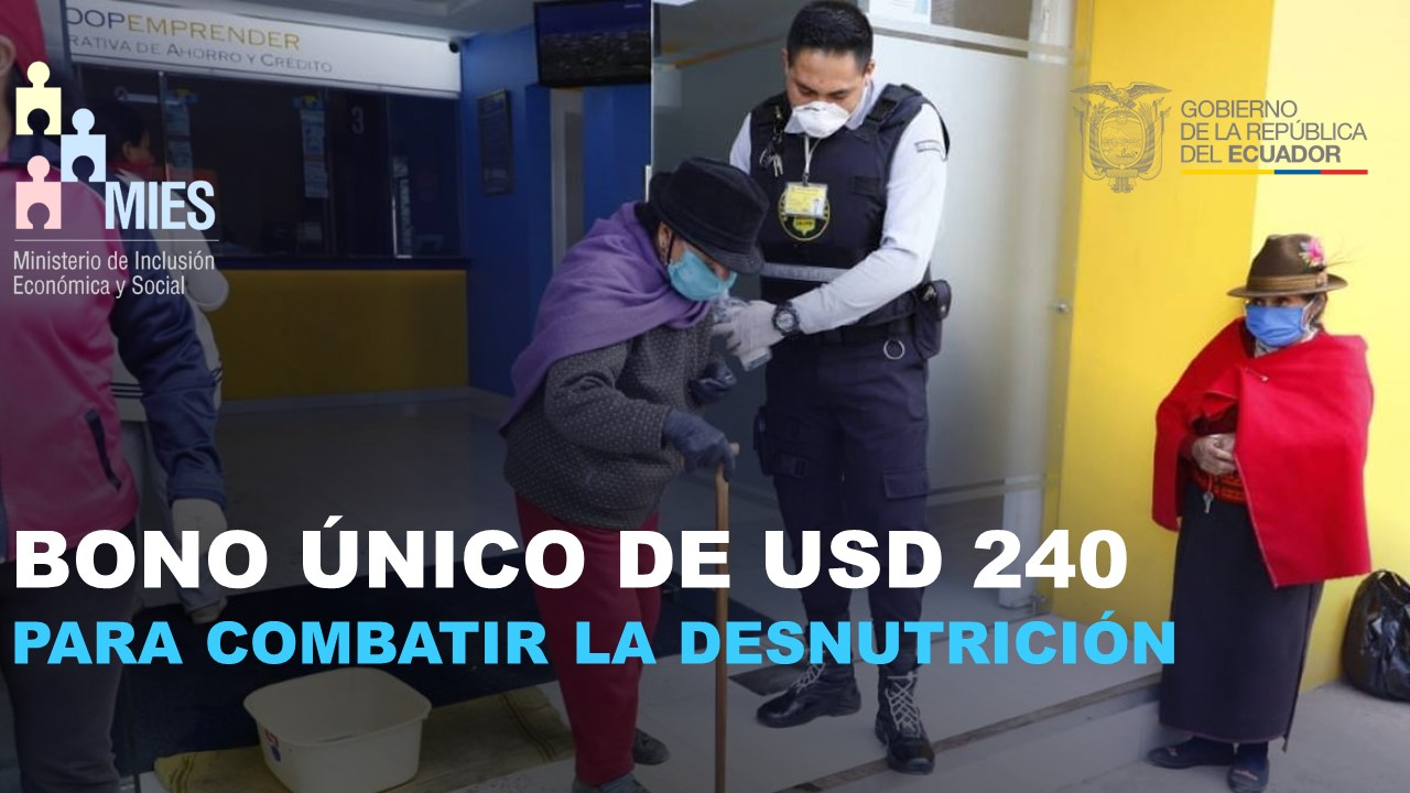 Bono único de USD 240 para combatir la desnutrición