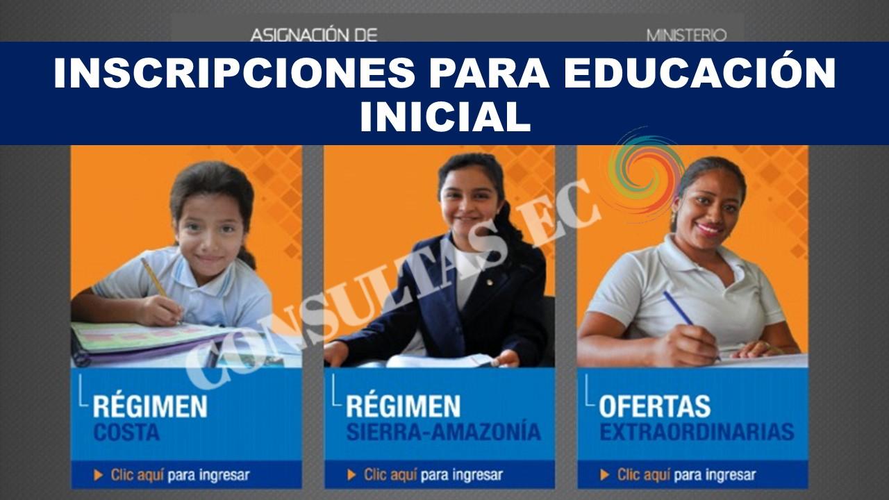Inscripciones para Educación Inicial