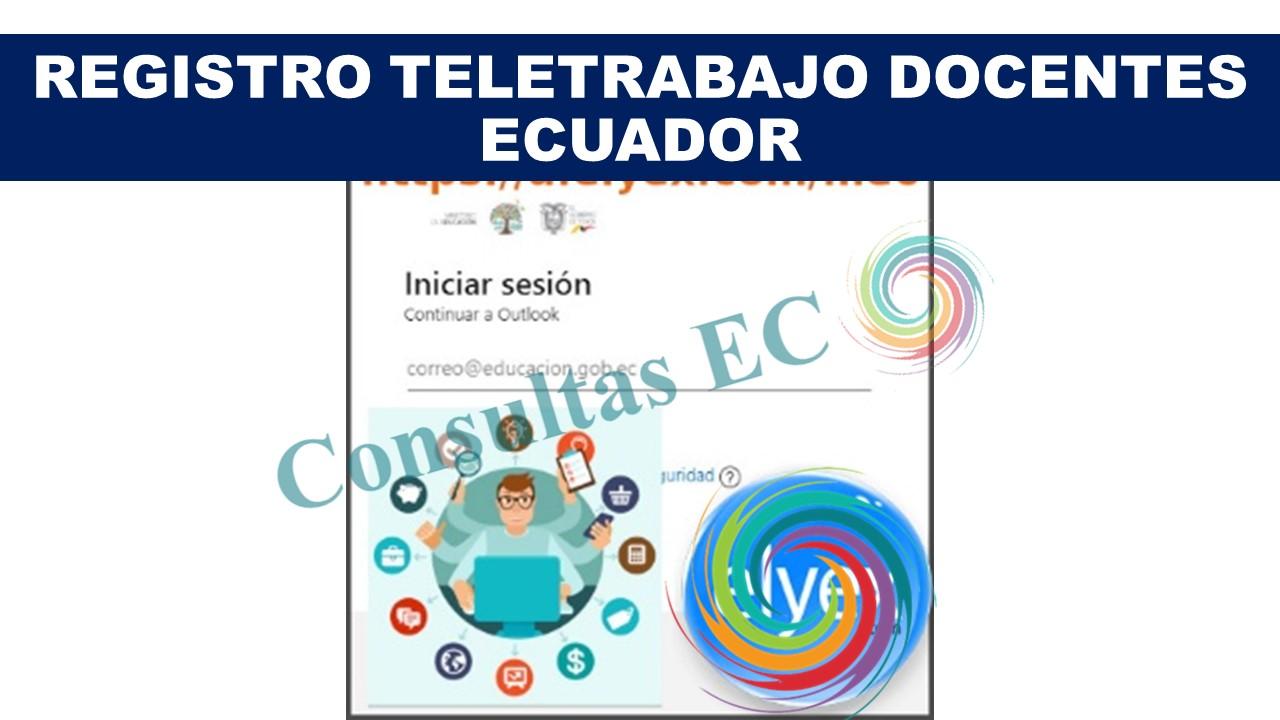 Registro Teletrabajo Docentes Ecuador